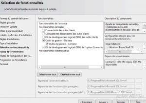 options SSMS 2014 et Sage CRM